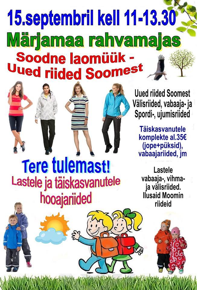 8452d935de2 Soome uute riiete müük - Raplamaa.ee